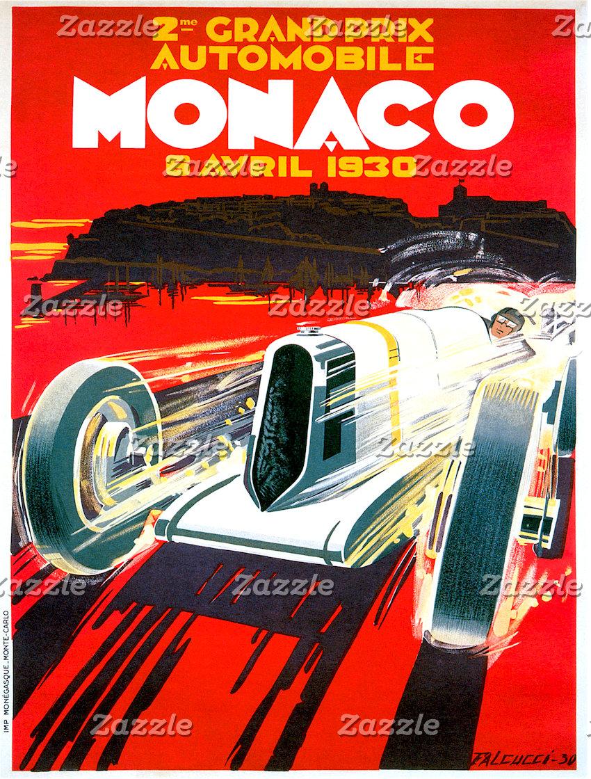 Vintage Car Posters