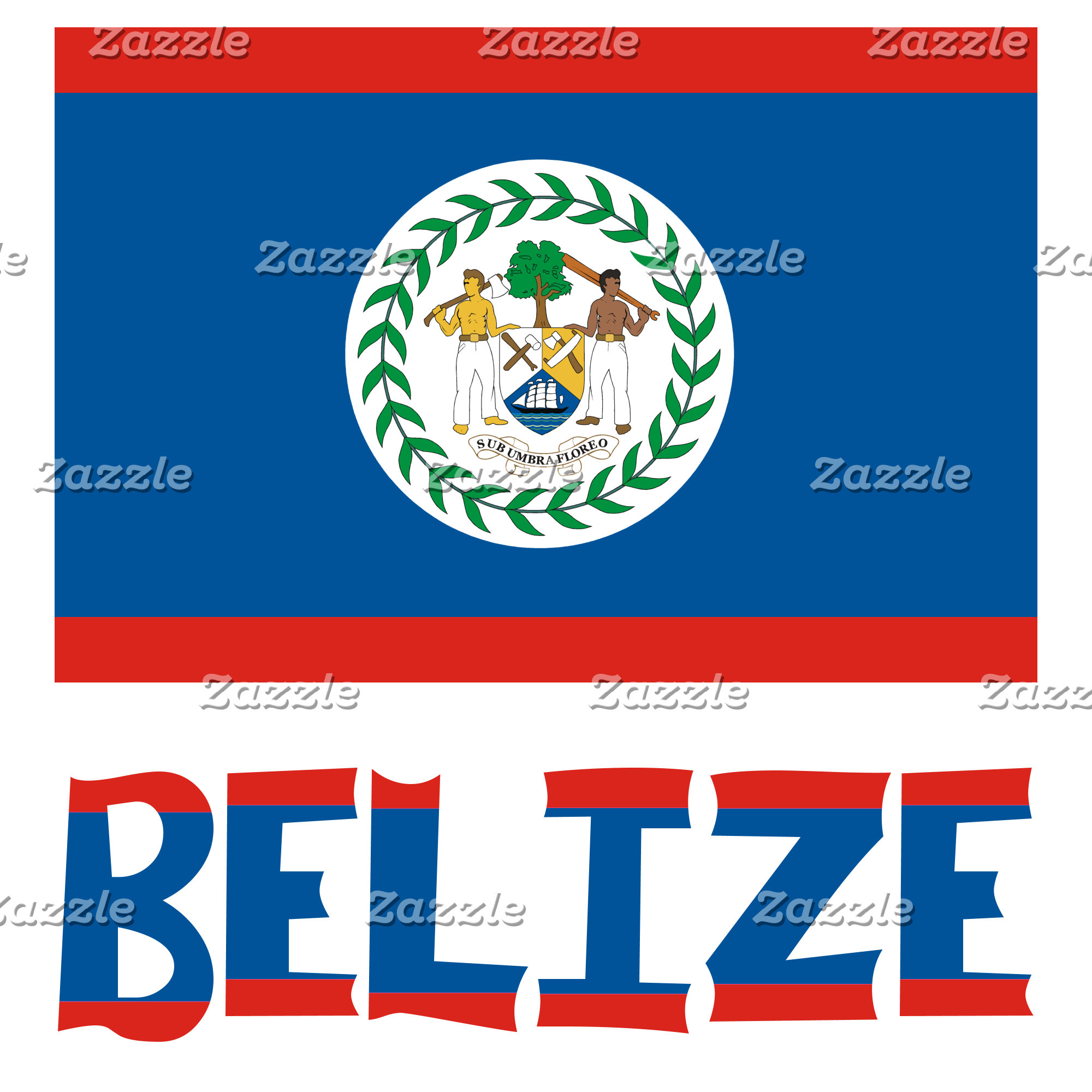 Belizean Flag and Belize