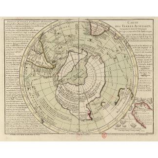 Vintage Polar Region Maps