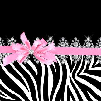 Diamond Delilah Zebra (Pink)