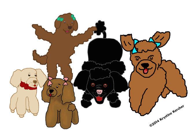Five Poodles