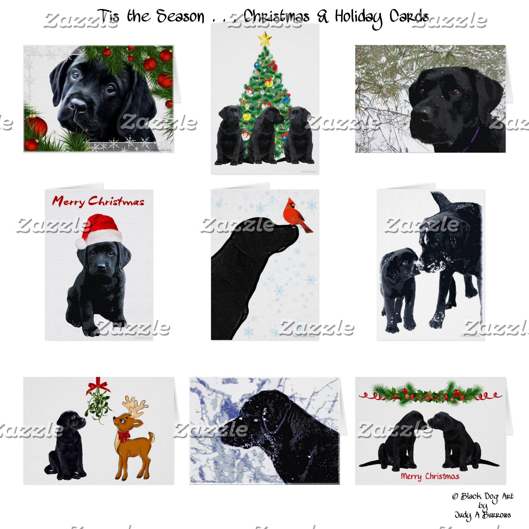 Black Lab Christmas - Yellow Lab Christmas