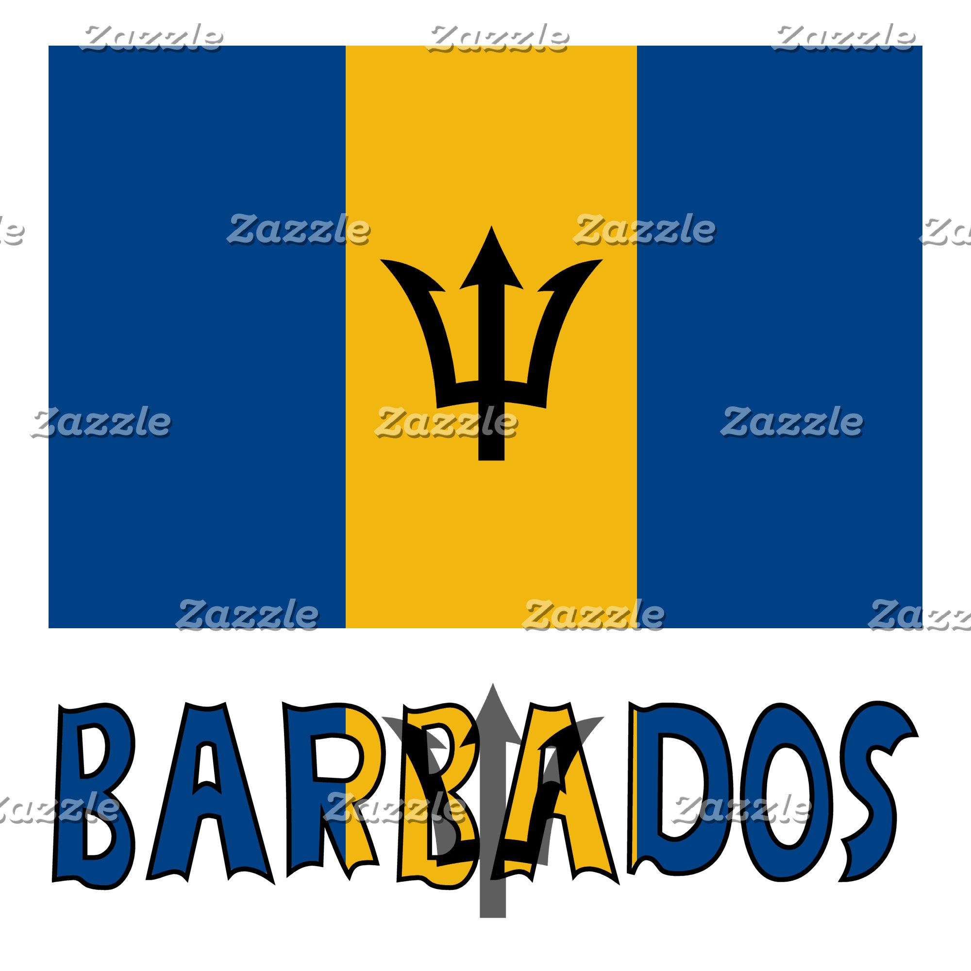 Barbadian Flag and Barbados