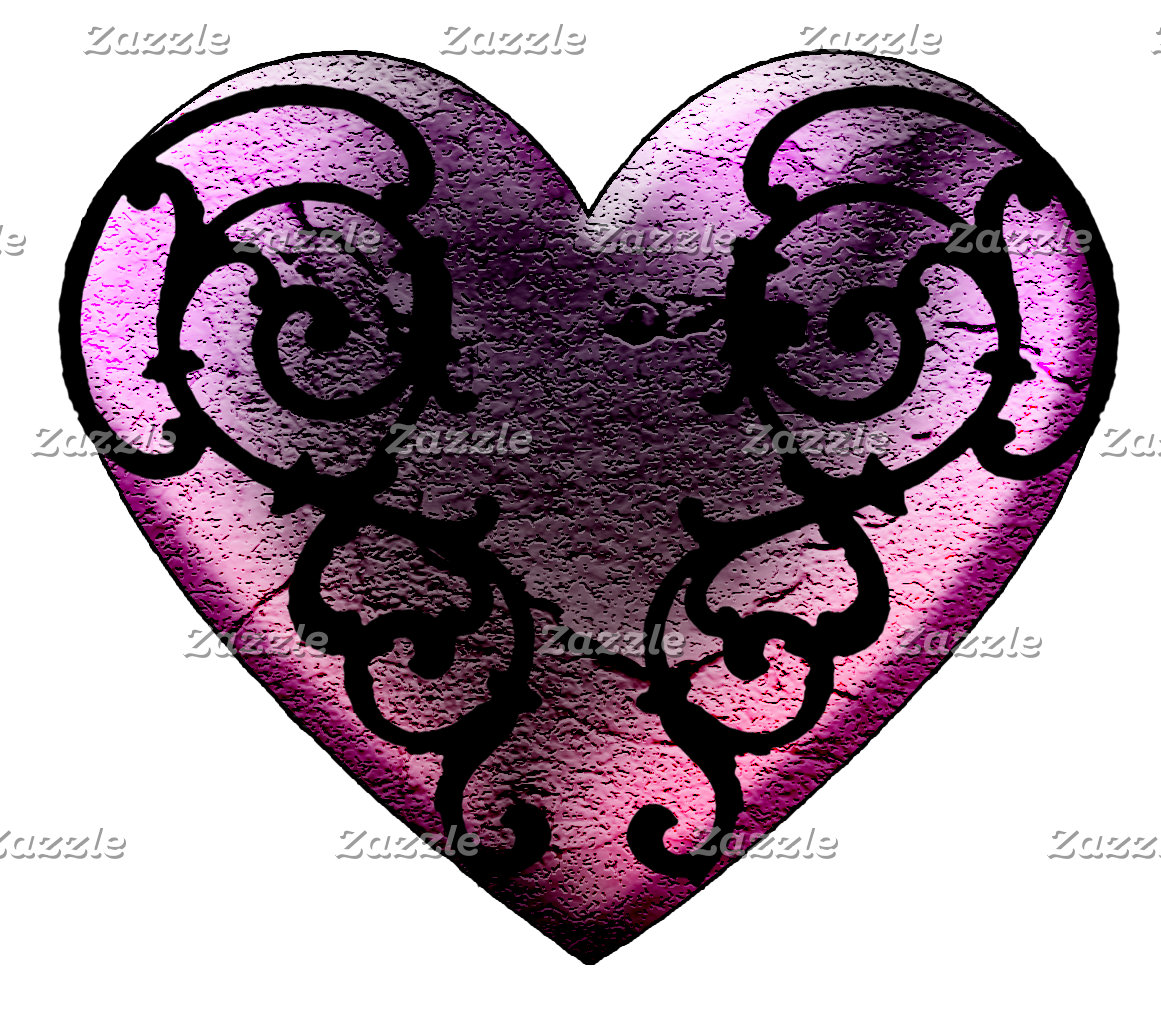 Filigree Goth Hearts