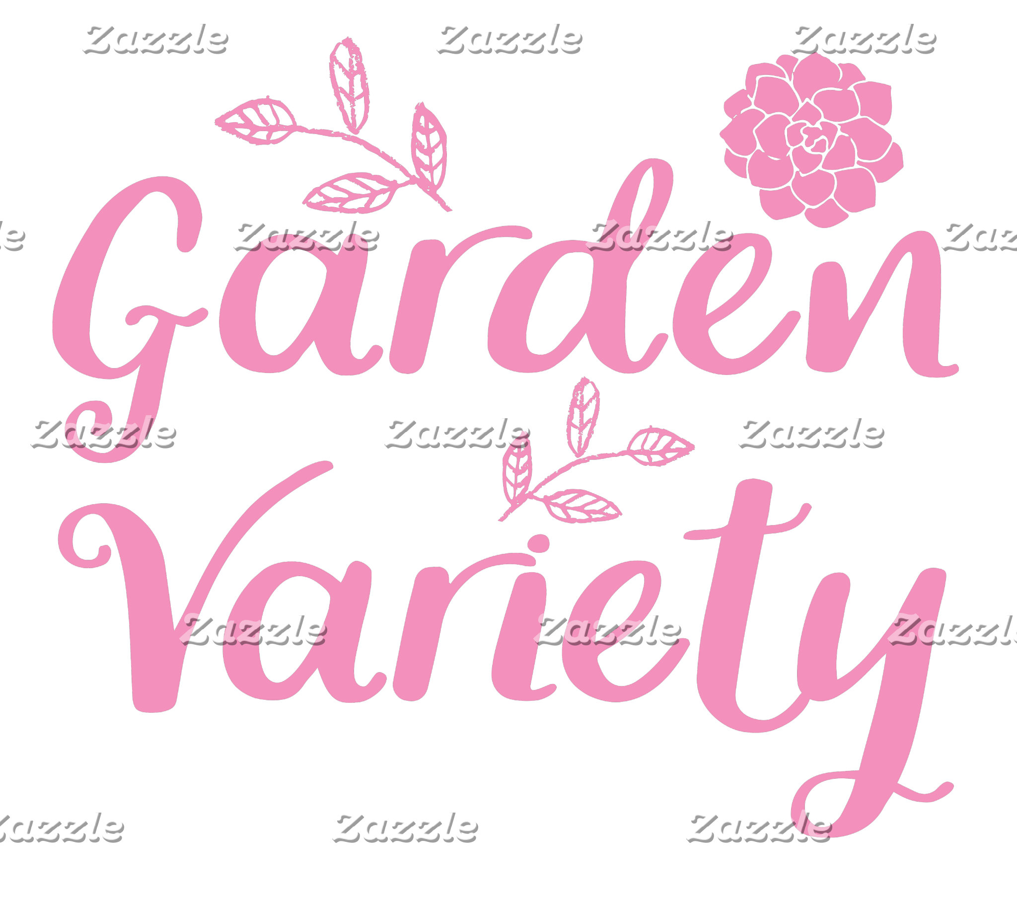 garden variety in pink with flowers