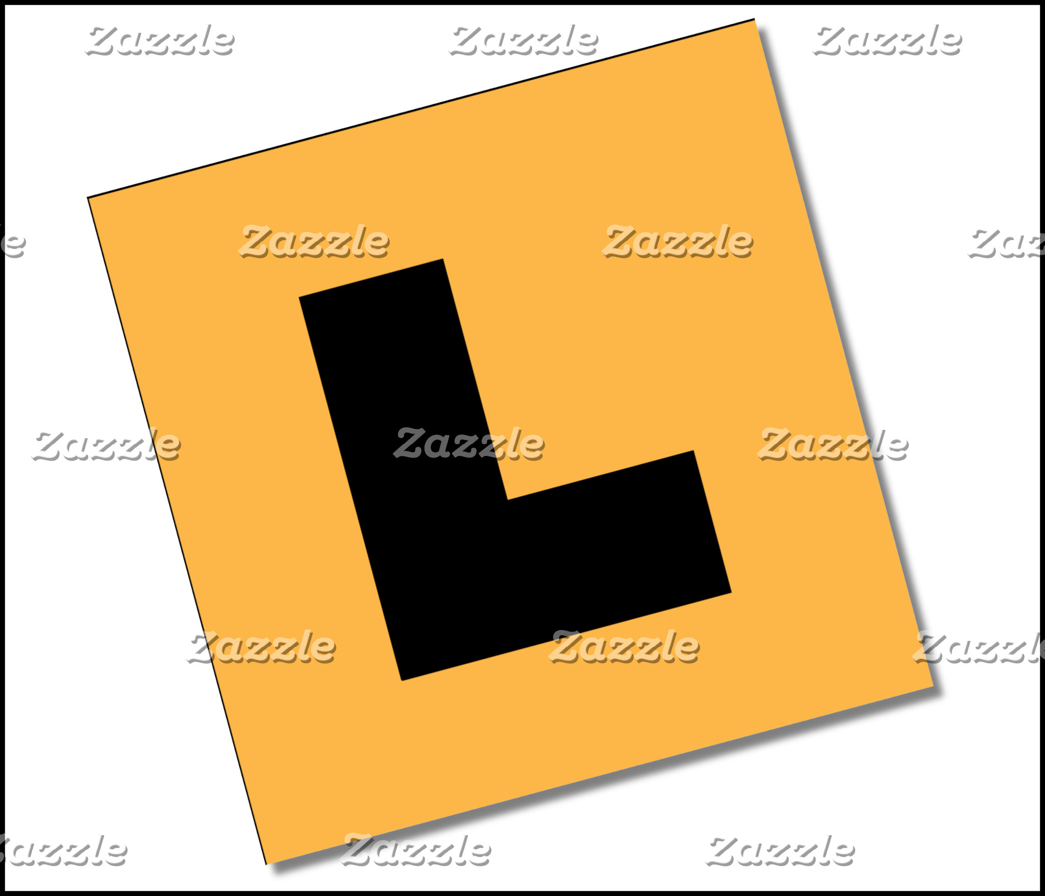 L Plates (black/yellow)