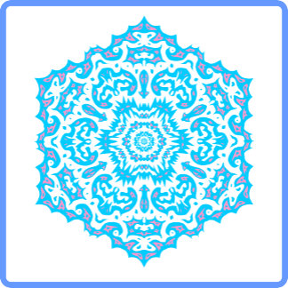 Different Mandalas Snowflakes