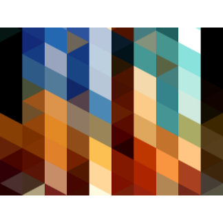 Geometric Patterns   Blue and Orange Triangles