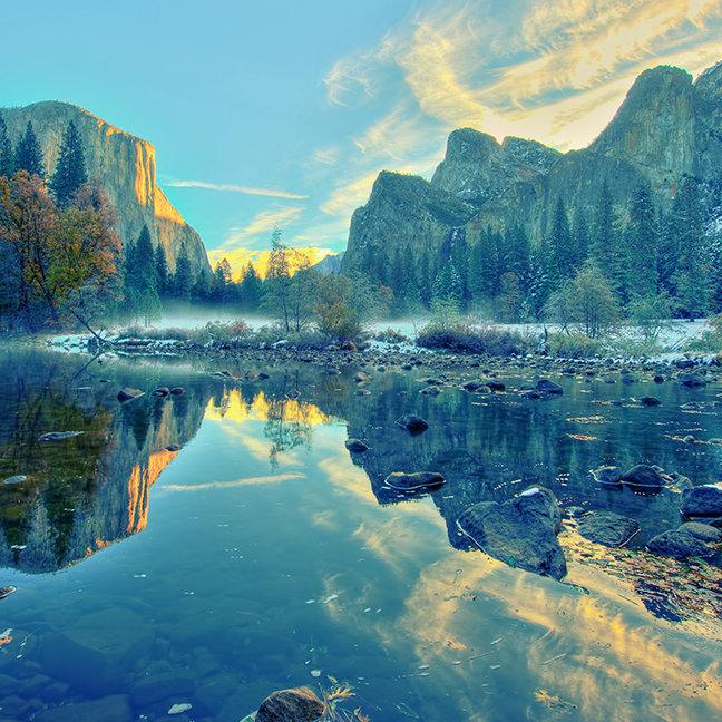 El Capitan and Three Brothers Reflection