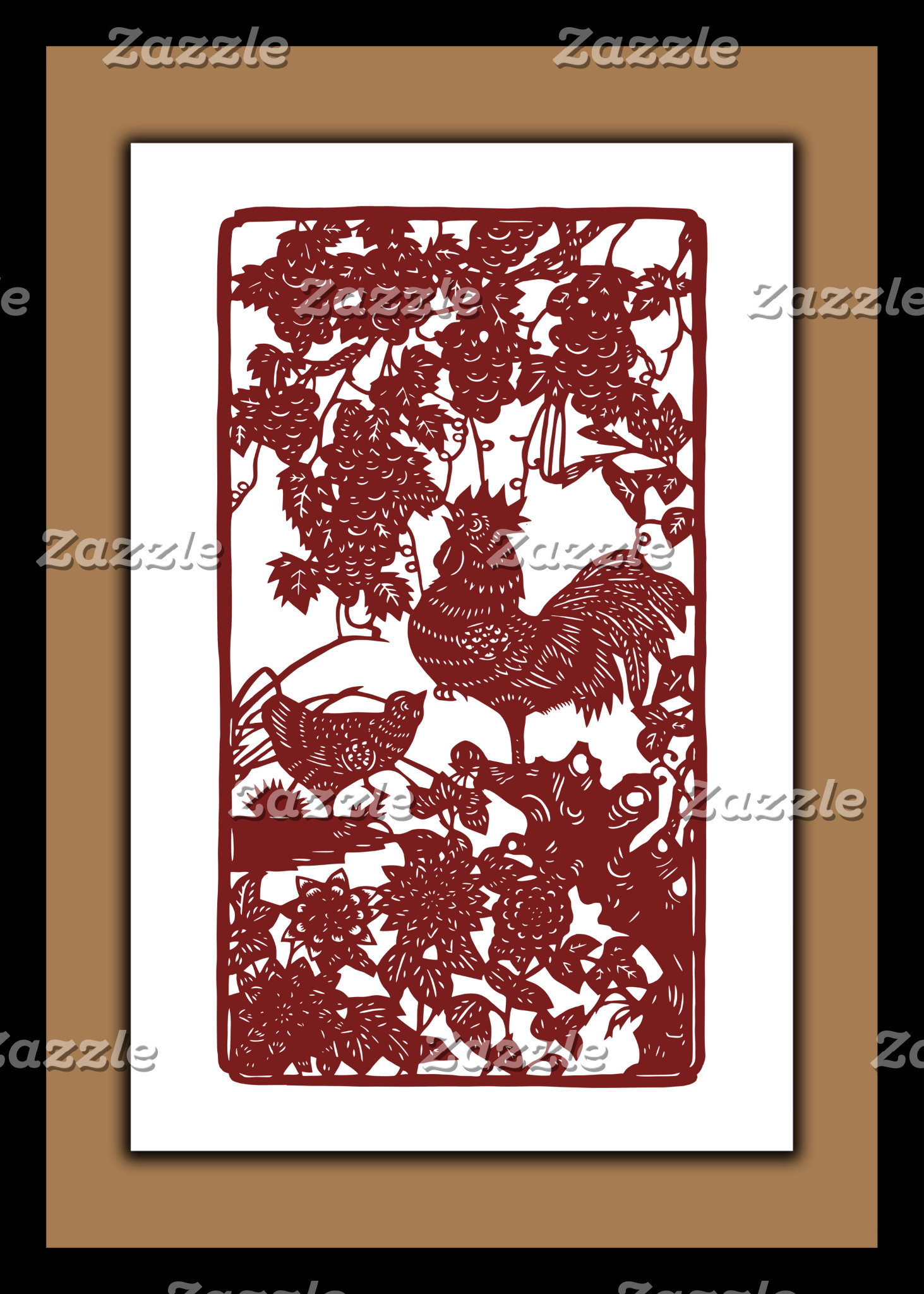 Chinese Zodiac Rooster Posters/Cards