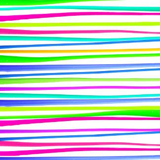 Summer Bright Neon Rainbow Paint Stripes Pattern
