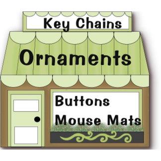 Key Chains, Buttons, Mousemats, Ornaments