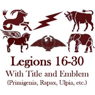 Legions 16-30 Titles and Emblems