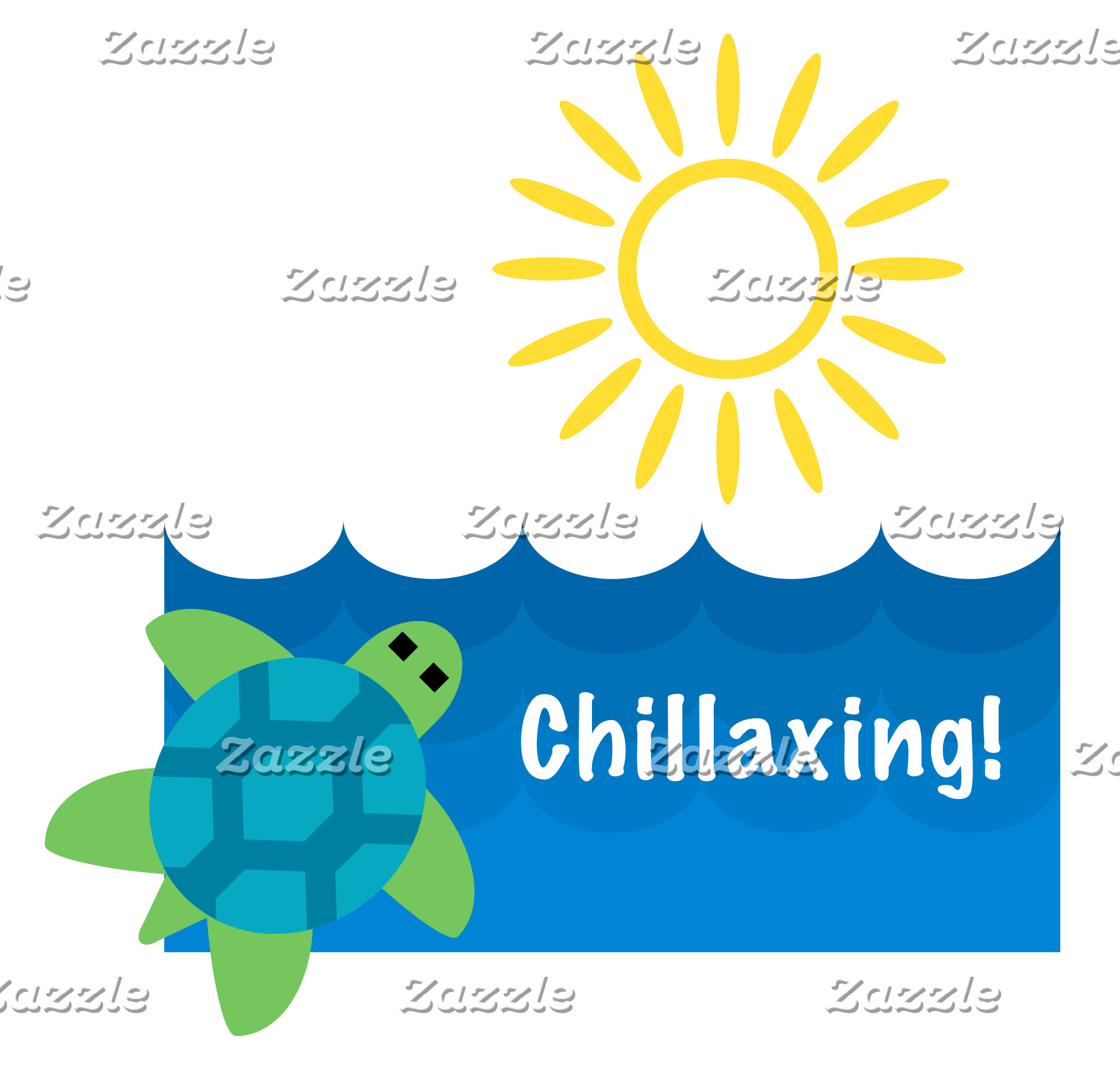 Turtle Chillaxing Design