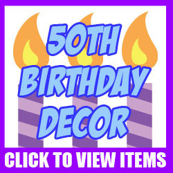 50th Birthday Funny Accessories