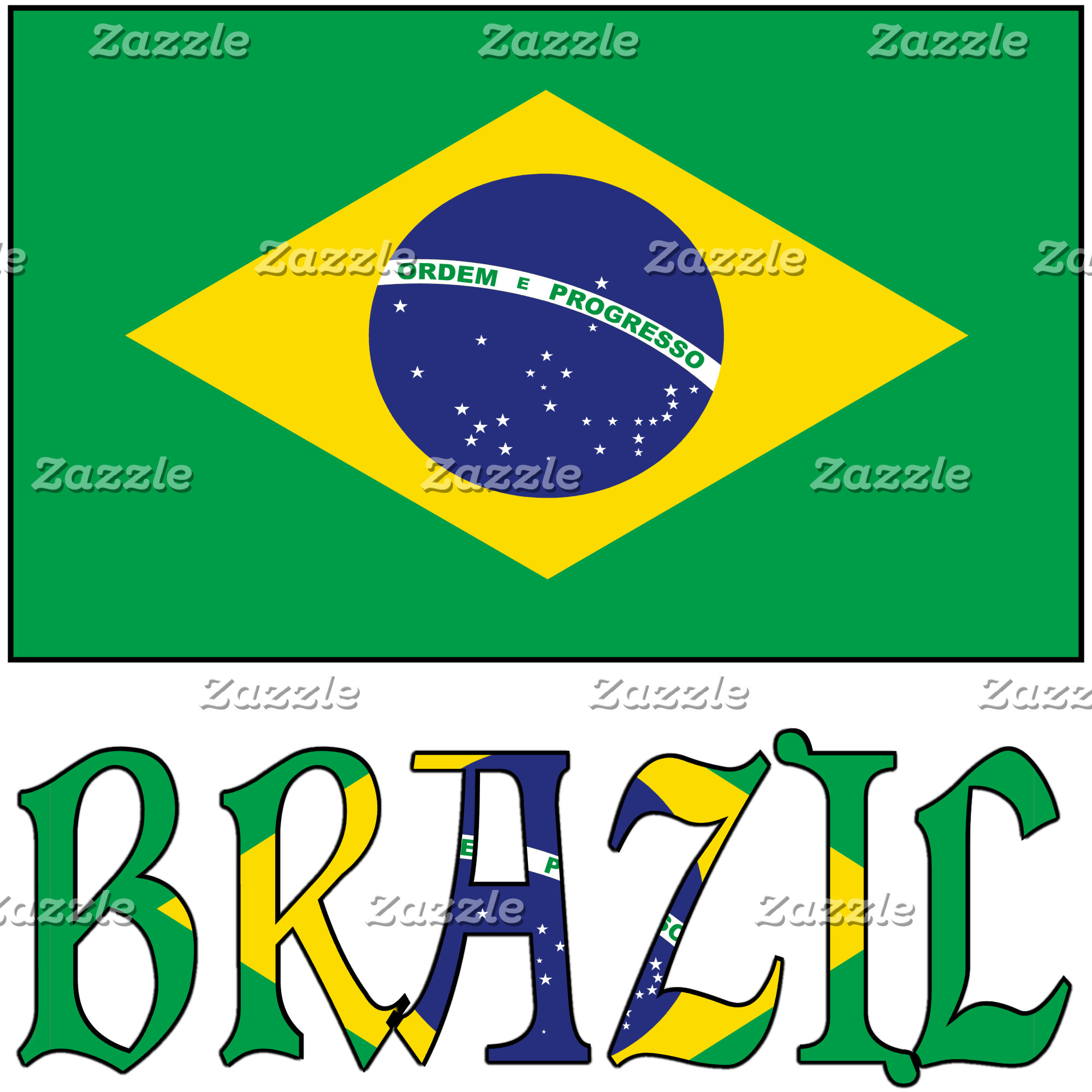 Brazilian Flag and Brazil
