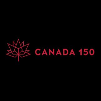 Canada 150 Horizontal Black and Red