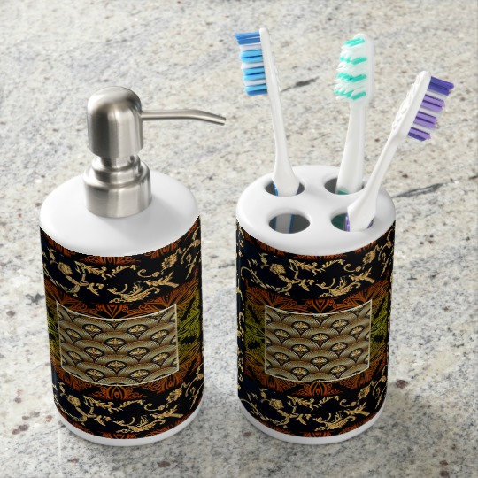 African Pattern and Print  Bathroom Set