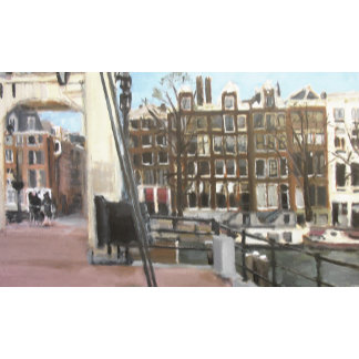 Amsterdam Bridge and Canal Houses