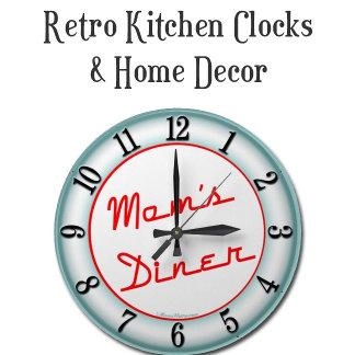 Retro Clocks for Kitchen and Home