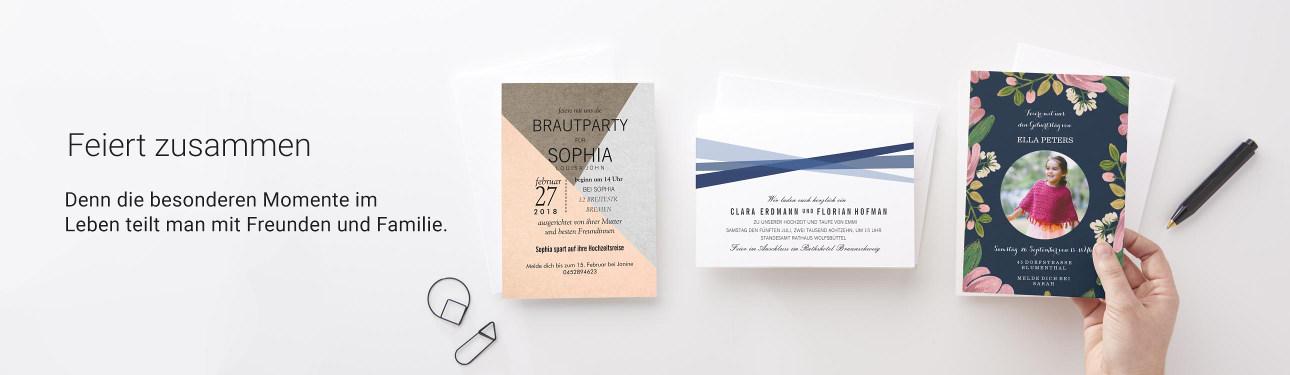 Individuelle Karten und Einladungen