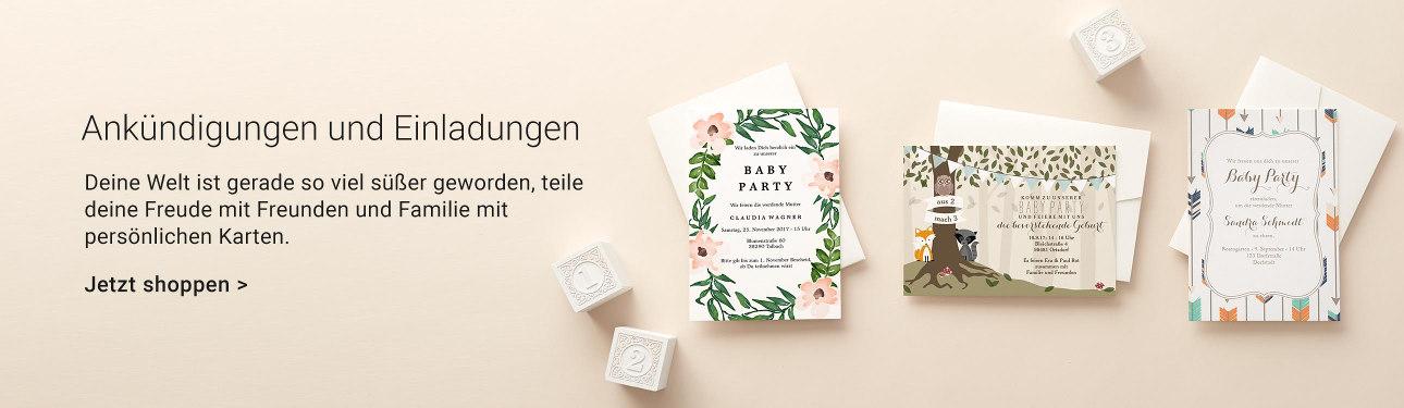 Baby Einladungen & Karten bei Zazzle