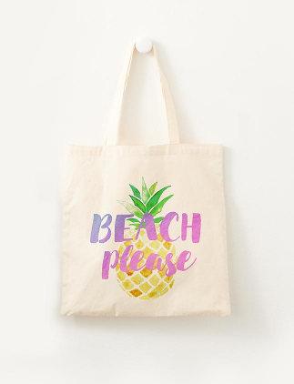 Ananas Tasche Beach Please