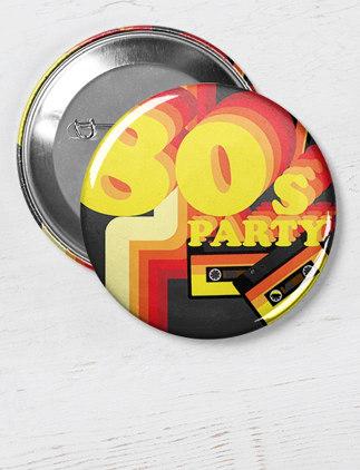 Buttons von Zazzle mit Designs aus den 80er Jahren