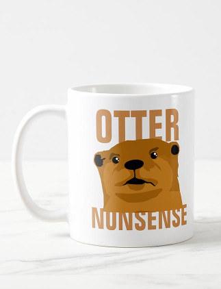 Lustige Otter Tasse