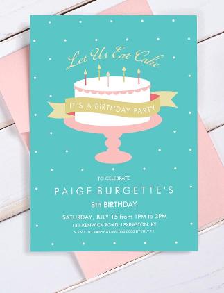 Millionen von Geburtstagseinladungen für jedes Alter und jeden Geschmack.