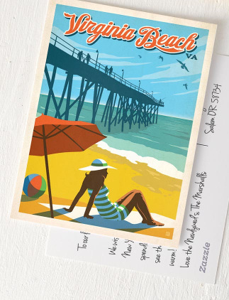 Vintage Strandpostkarten