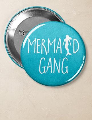 Mermaid Gang Button