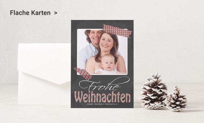 Flache Weihnachtskarten auf Zazzle Schweiz