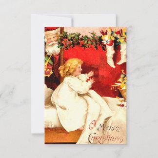 vintages weihnachten einladungen. Black Bedroom Furniture Sets. Home Design Ideas