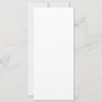 10,2 cm x 23,5 cm Flache Karte