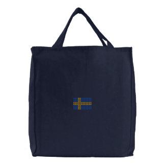Svensk flagg väska - schwedische bestickte einkaufstaschen