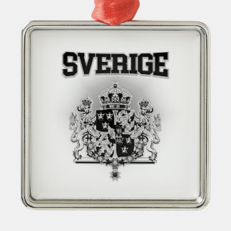 Sverige Emblem Silbernes Ornament