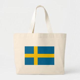 Sveriges Flagga - Flagge von Schweden - Jumbo Stoffbeutel