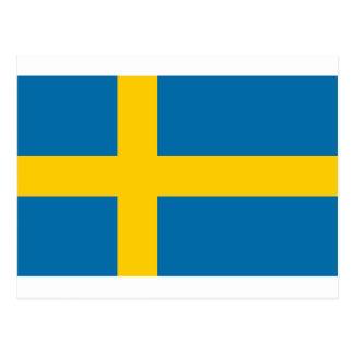 Sveriges Flagga - Flagge von Schweden - Postkarte