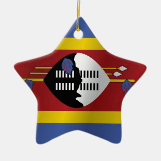 Swasiland-Flagge Keramik Ornament
