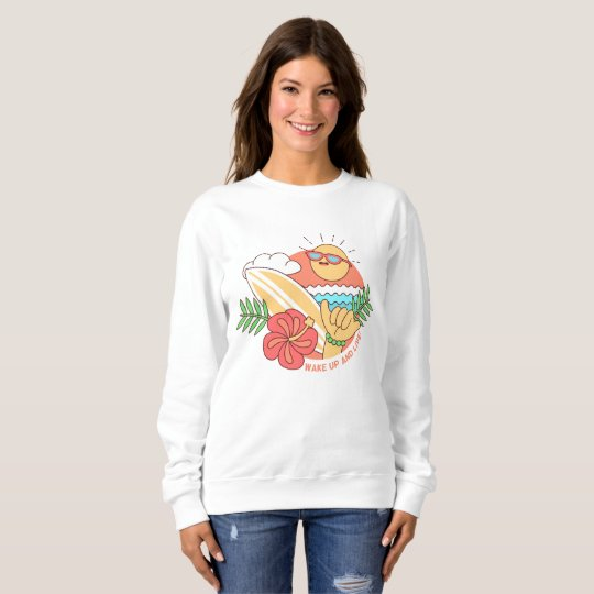 Sweat Frau Leertaste BASIC Surfing Sweatshirt