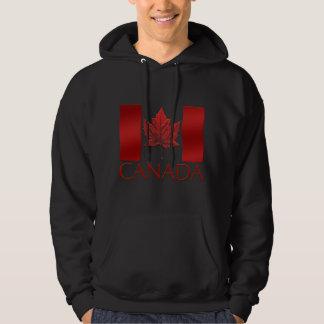 Sweatshirt à capuchon de drapeau du Canada de