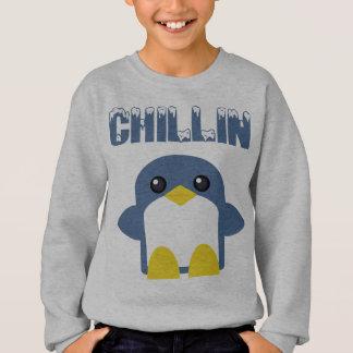 Sweatshirt le kawaii badine le bonbon de chillin de pingouin