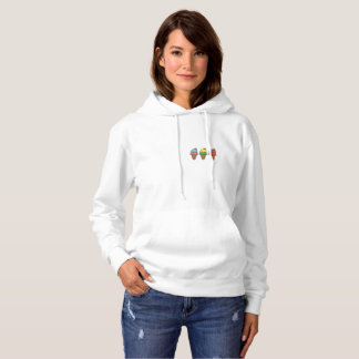 Sweatshirt mit Kapuze sagt Cream