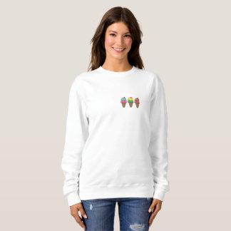 Sweatshirt ohne Kapuze hisst Cream