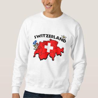 Sweatshirt suisse de carte
