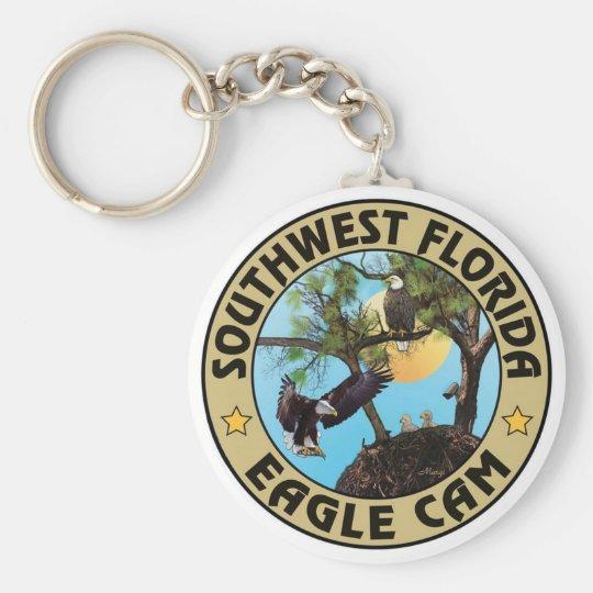 SWFLEagleCam Logo Keychain (verschiedene Wahlen) Standard Runder Schlüsselanhänger