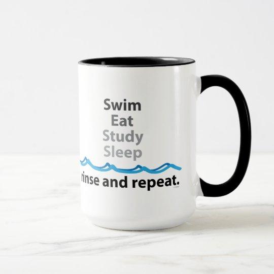 Swim essen Studien-Schlaf-Tasse Tasse