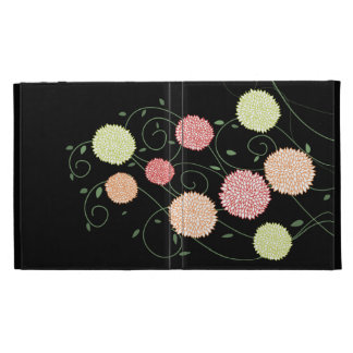 Swirly Flowers IPAD Caseable Folio Case iPad Folio Cover
