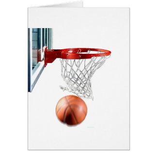 Swish, Basketball durch das Netz Grußkarte